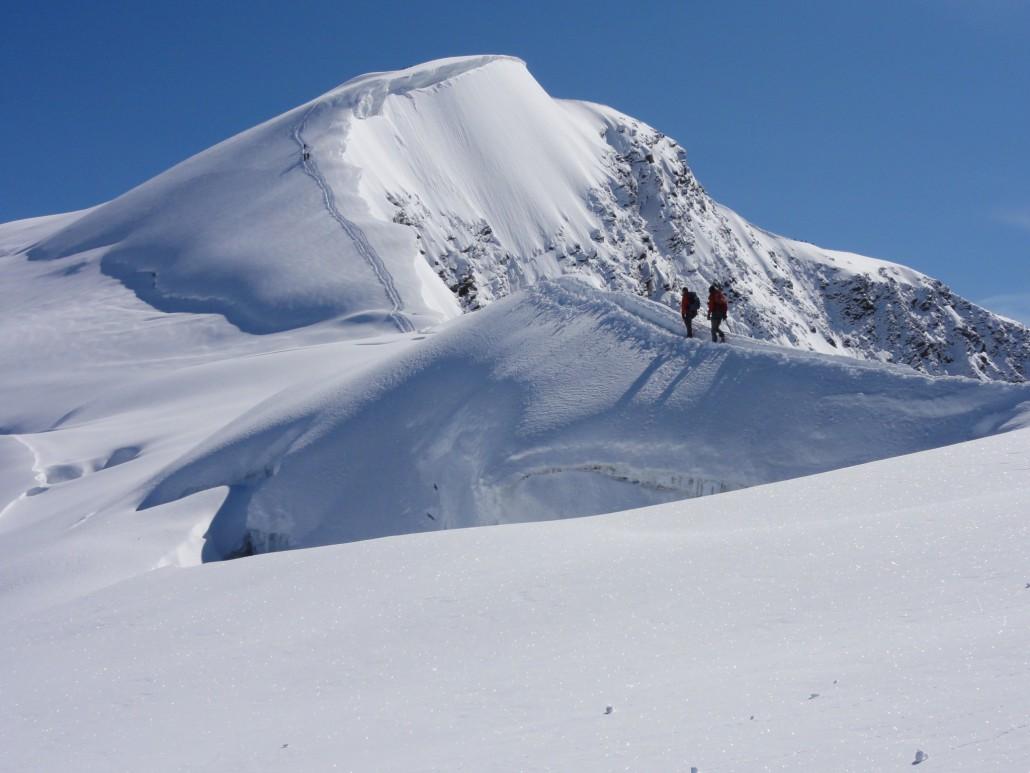 Klettersteig Jägihorn : Panorama klettersteig jägihorn active dreams bergführer weissmies